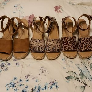Soda Topic Espadrilles snake leopard and brown sz9